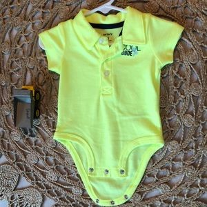 Yellow bodysuit for baby boy
